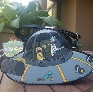 CUTE Loungefly Rick & Morty Spaceship Purse